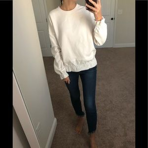 NWT COS Scrunch White Crew Neck Sweater